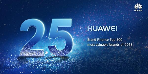 HUAWEI a atteint la 25ème place du « Brand Finance Global 500 » 2018