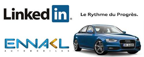 Audi Tunisie annonce sur Linkedin