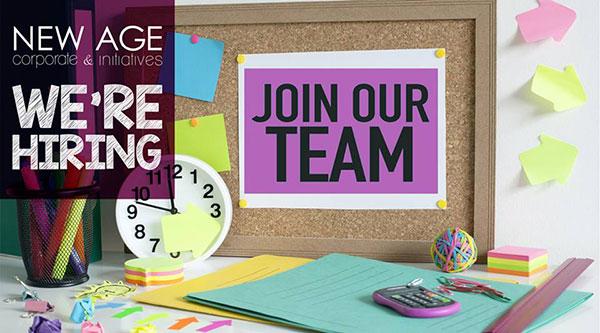 NEW AGE recrute un Account Manager, un Graphic Designer et un Digital Planner