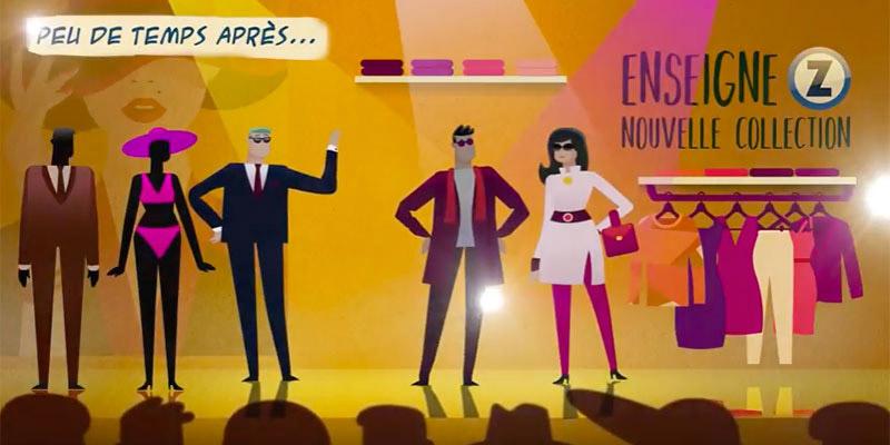 Nouveau spot en bande dessinée dédié au secteur de la mode et de l'habillement