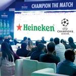 En photos : Heineken se surpasse pour la demi-finale UEFA Champions League