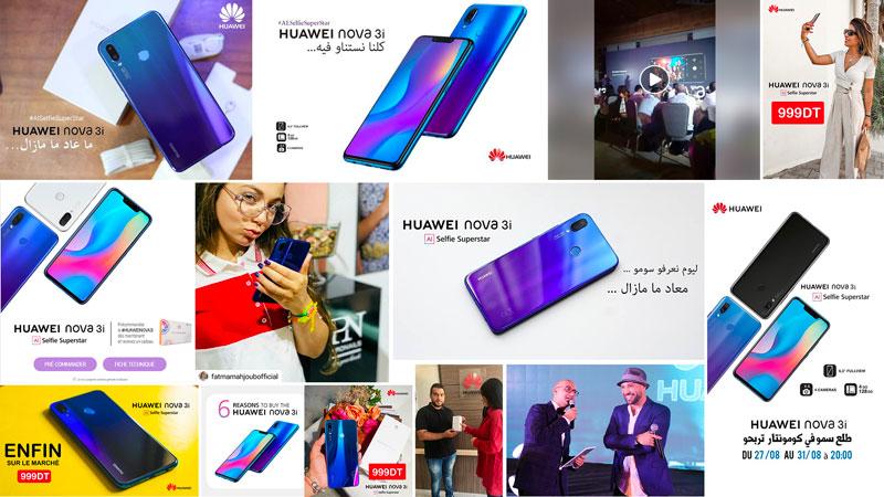 La campagne Huawei Nova 3i la plus appréciée des campagnes pour Octobre 2018