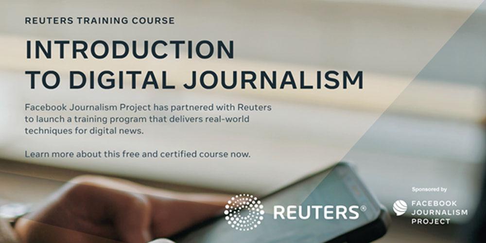 Annonce d'un programme de cours en ligne pour les journalistes par Reuters et Facebook Journalism Program