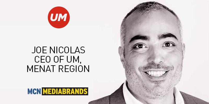 MCN nomme Joe Nicolas au poste de PDG de UM MENAT<