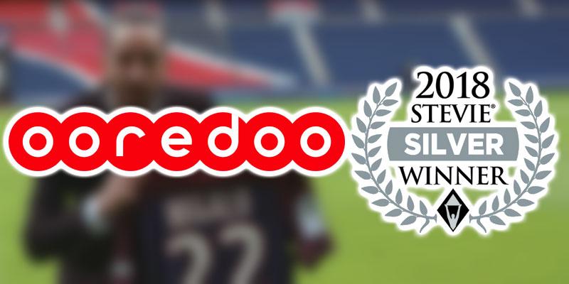 Ooredoo Tunisie rafle avec le « 1er match de Migalo au PSG » le Stevie Award d'Argent