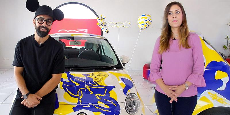 En vidéos : Salma Dlimi Feki et Dali Diva présentent la Fiat 500 SimplementHappy
