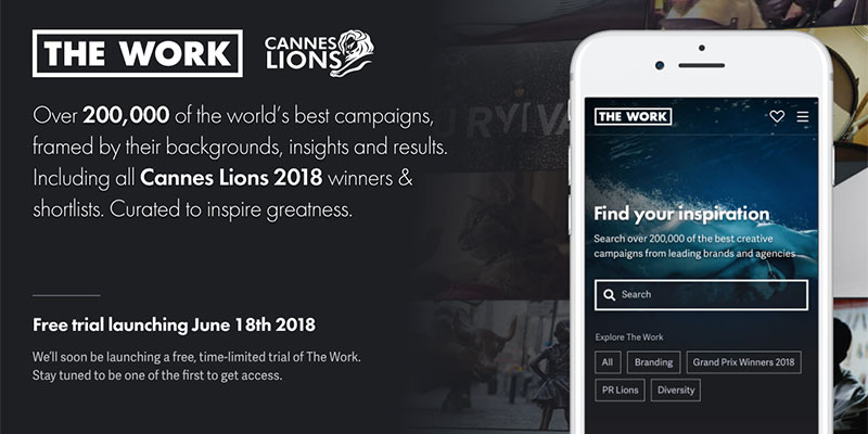 Cannes Lions launches The Work