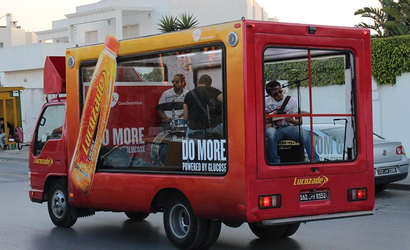 Campagne Mobishow : Lucozade