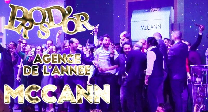 McCann Agence de l'Année aux Prosdor 2019